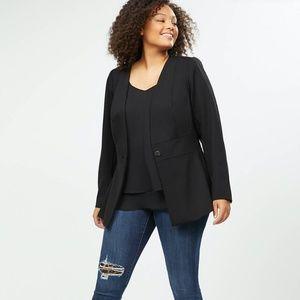 Merona Black Three Button Chic Professional Blazer